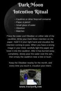 New or Dark Moon Intention Ritual Spell