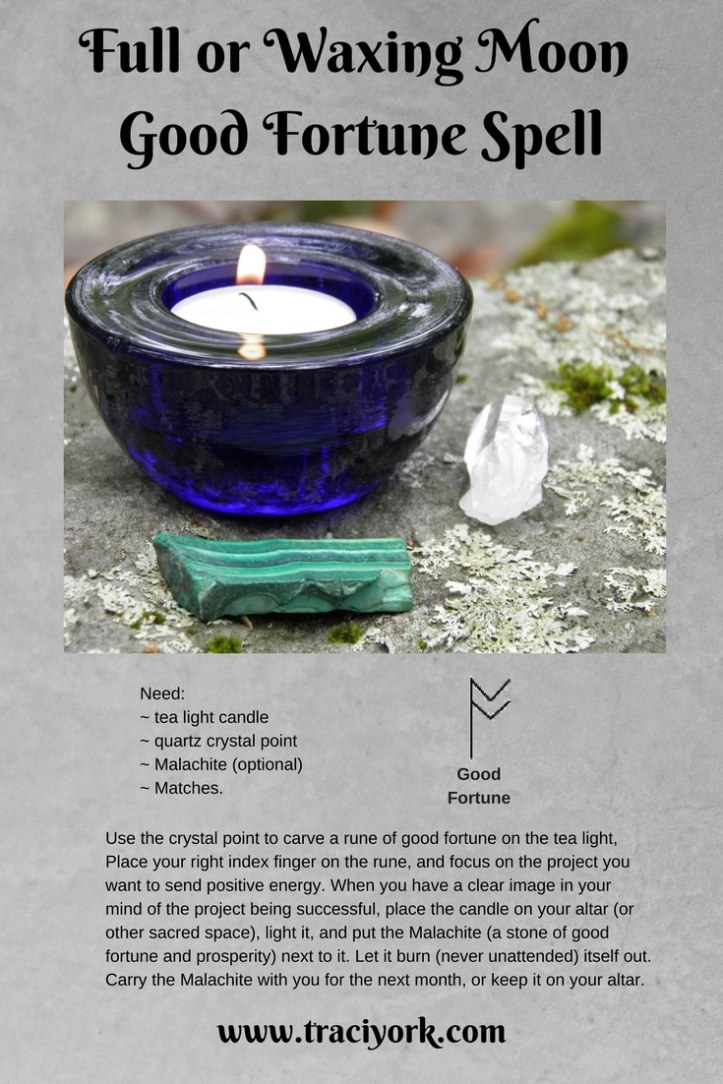 Full or Waxing Moon Good Fortune Spell
