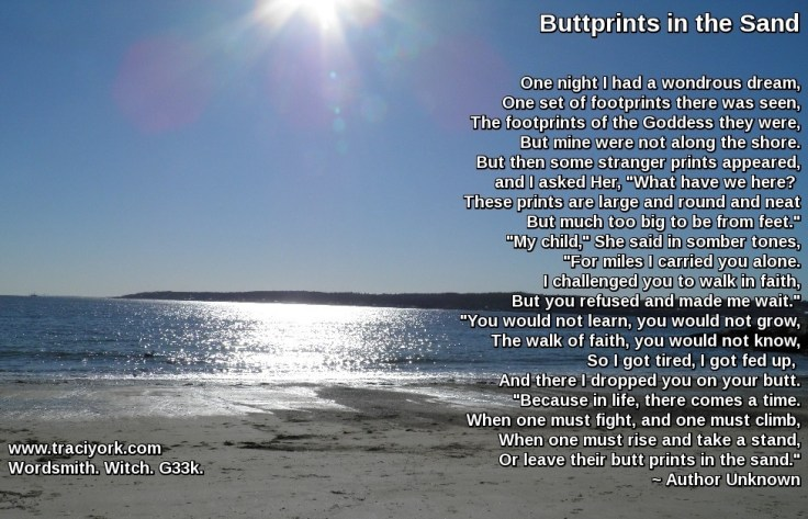 Revisiting Buttprints in the sand