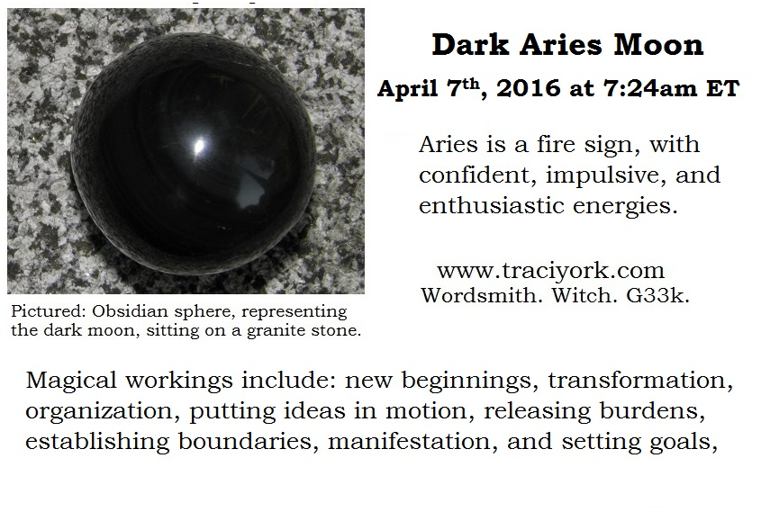 April 2016 - Dark moon in Aries