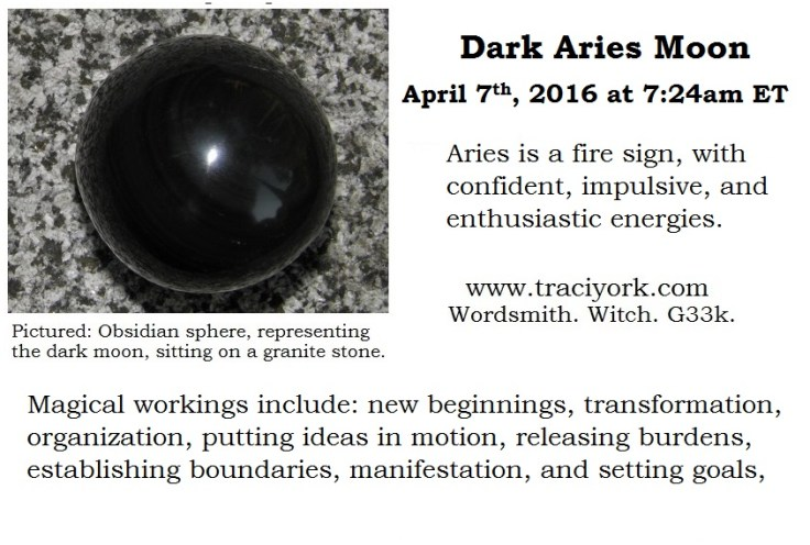 Dark Aries Moon