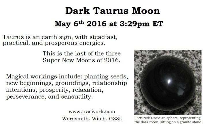 Dark Taurus Moon