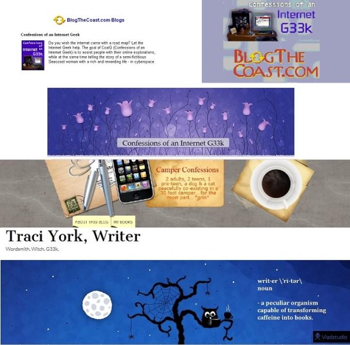 11th Blogiversary 11 years of blog headers, 2