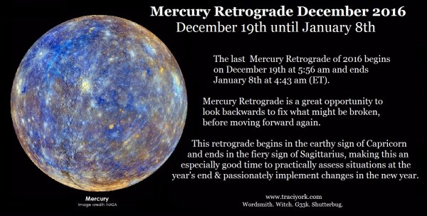 Mercury Retrograde December 2016