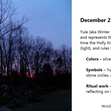 Yule aka Winter Solstice 2016
