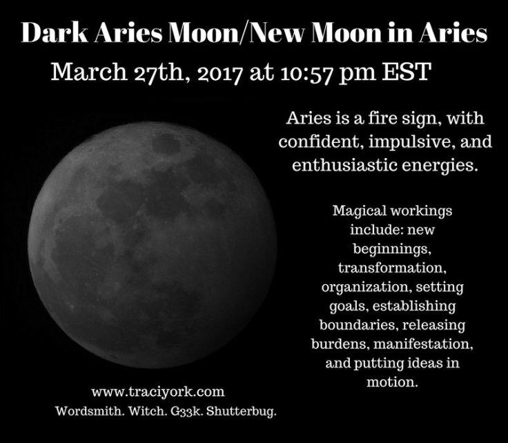 March 2017 Dark Aries Moon