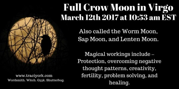 Full Crow Moon in Virgo