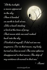 Witch Quote Challenge Week 3 Rumi Moon Quote