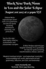 August 2017 Black Dark Leo Moon_New Moon in Leo and Solar Eclipse blog graphic