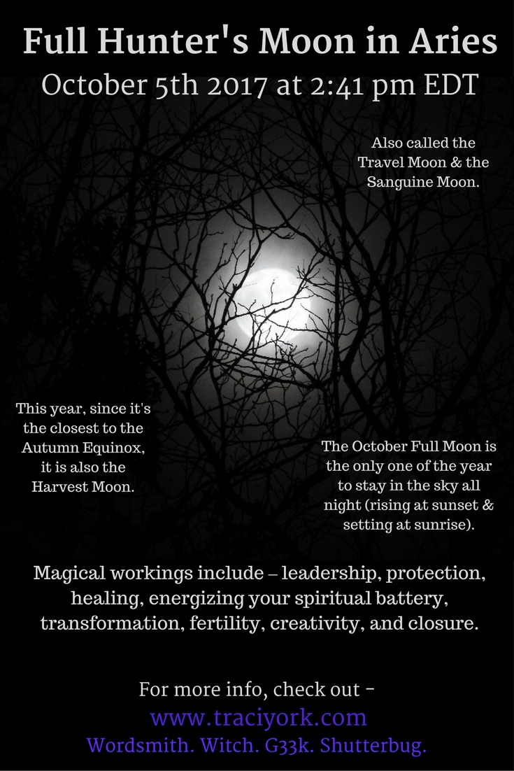 Full Hunter Moon in Aries October 2017