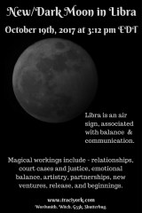 October 2017 Dark Libra Moon_New Moon in Libra