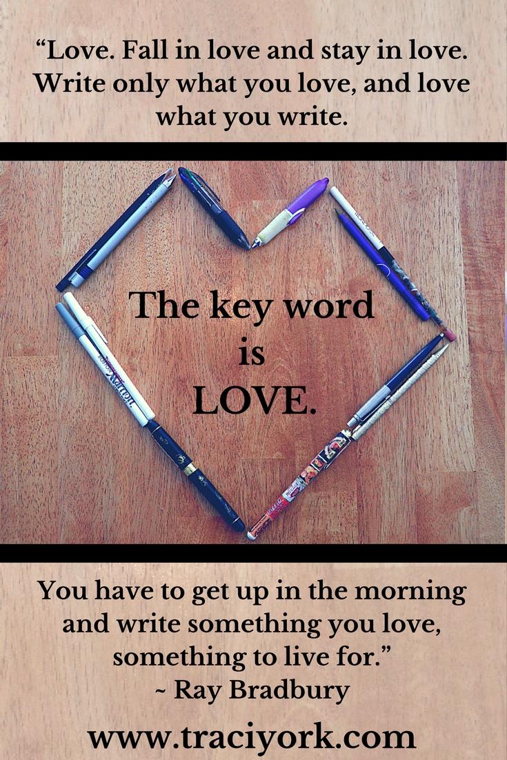 Love Writing quote by Ray Bradbury
