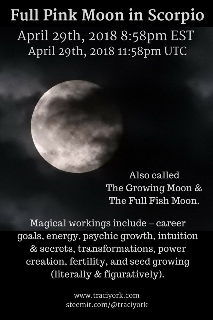 Full Pink Moon in Scorpio, April 2018