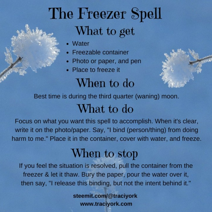 Witchcraft 101 - The Freezer Spell