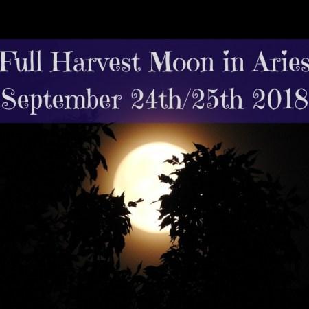 Full Harvest Moon in Aries blog thumbnail