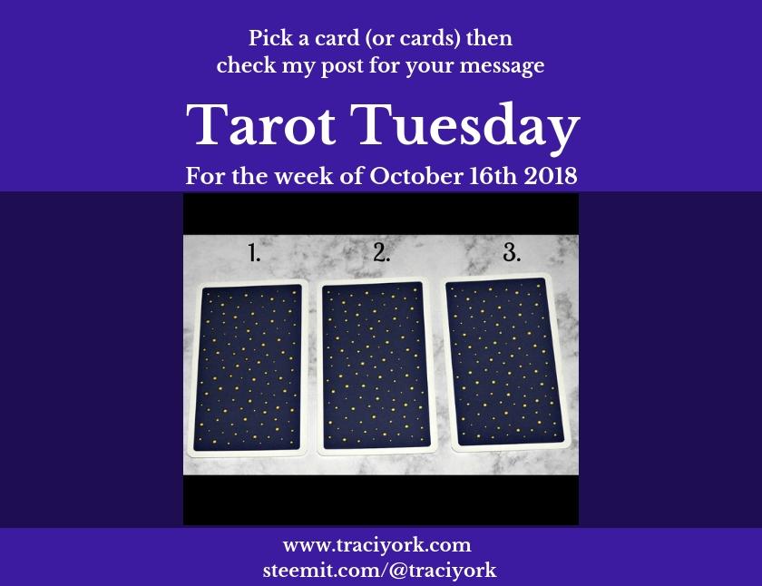 October 16th 2018 Tarot Tuesday blog thumbnail