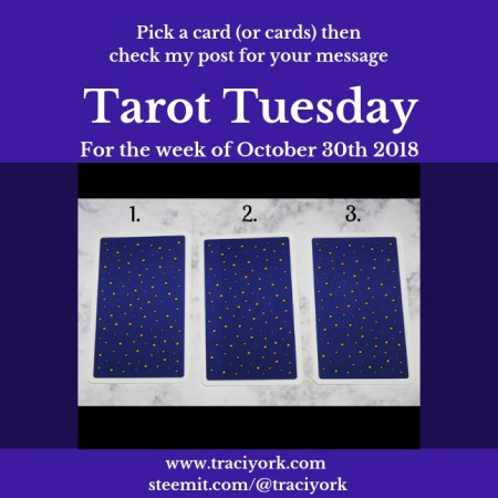 October 30 2018 Tarot Tuesday blog thumbnail