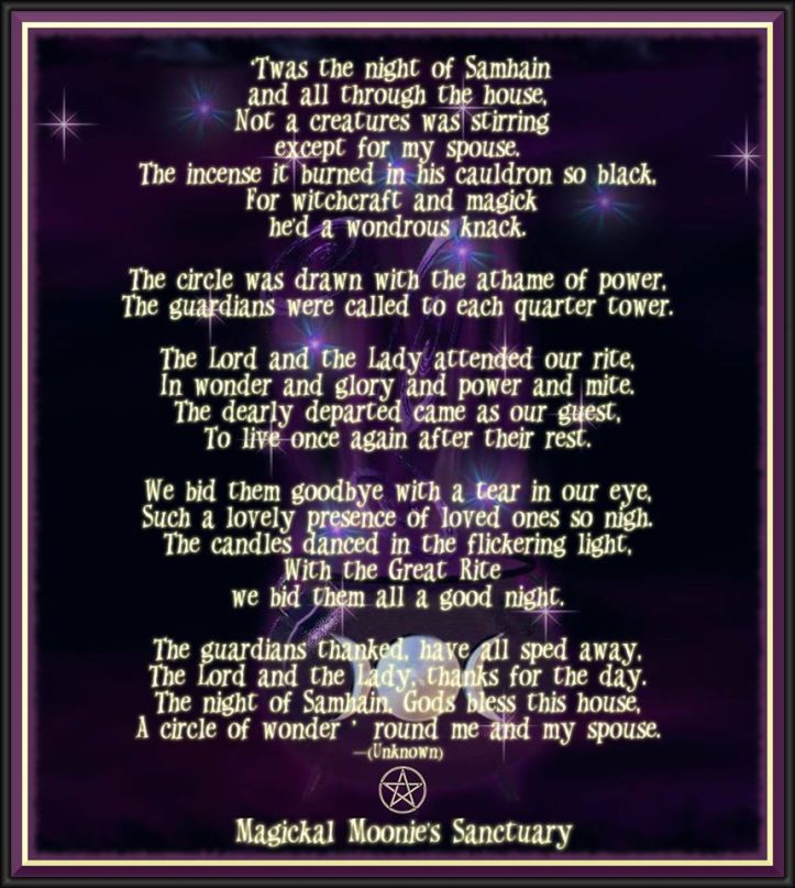 night before Samhain Magickal Moonies
