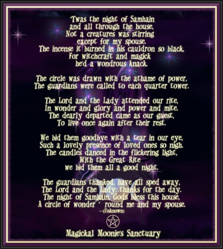 night before Samhain Magickal Moonies