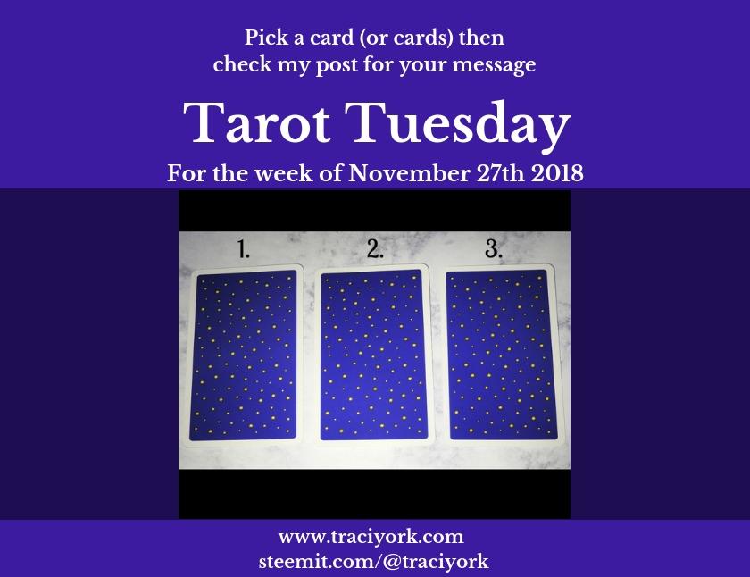November 27 2018 Tarot Tuesday blog thumbnail