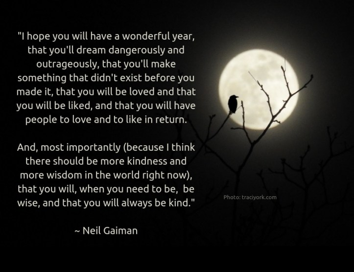 Neil Gaiman New Years quoto