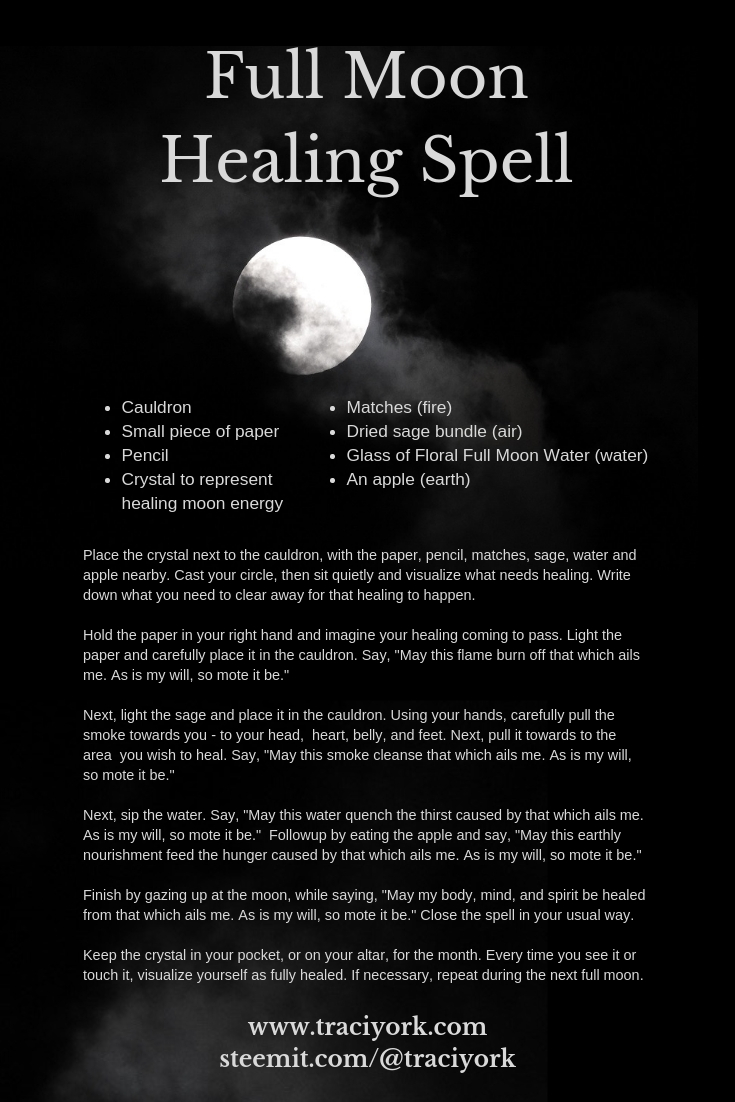 Full Moon Healing Spell 2019