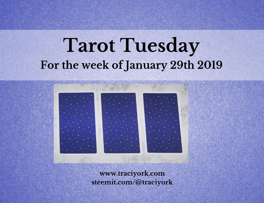 January 29 2019 Tarot Tuesday new years colors blog thumbnail