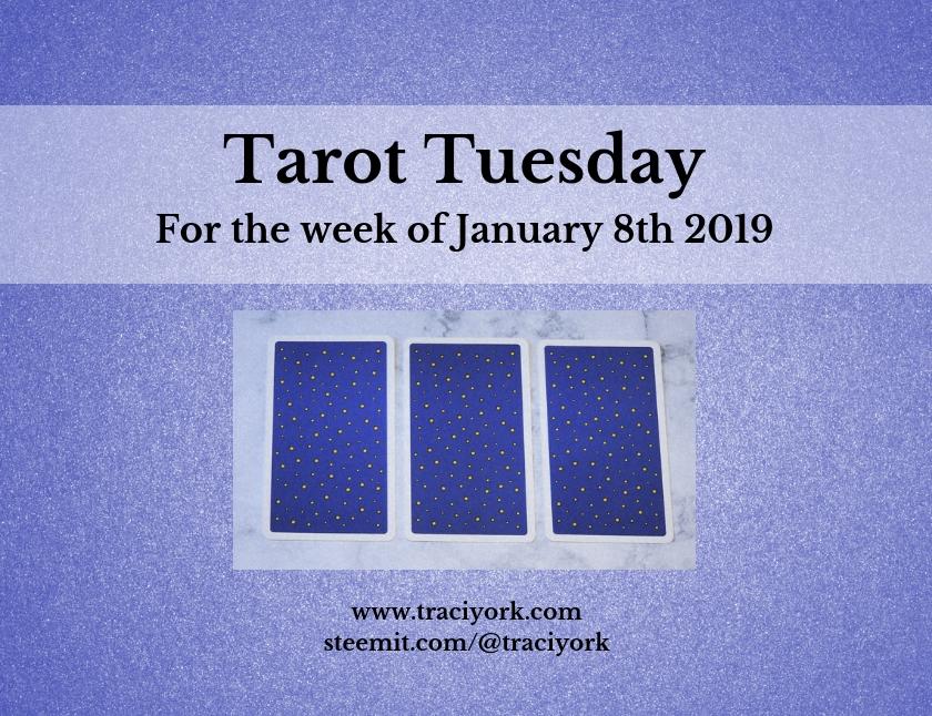 January 8 2019 Tarot Tuesday new years colors blog thumbnail