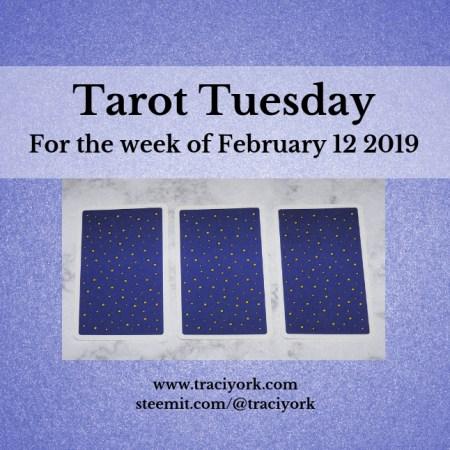February 12 2019 Tarot Tuesday new years colors blog thumbnail