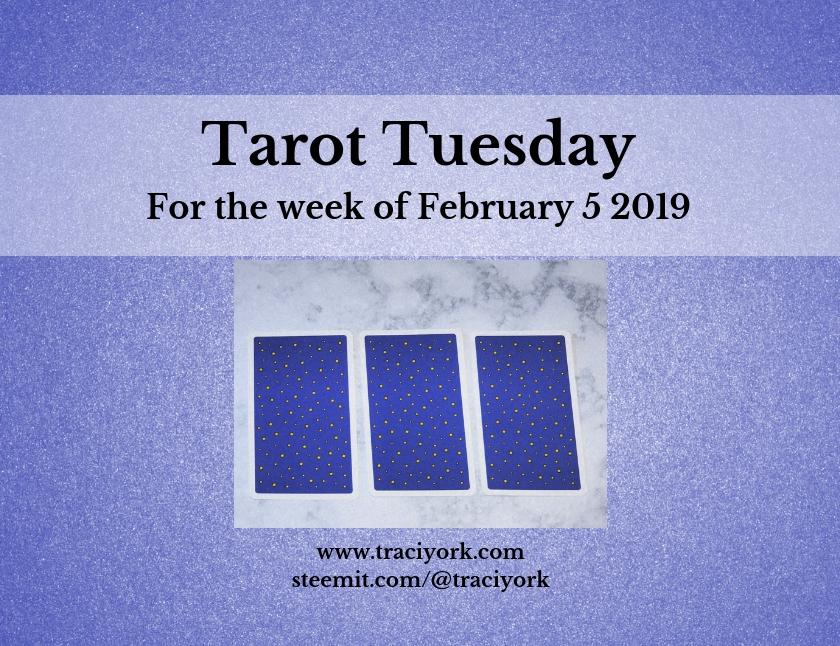 February 5 2019 Tarot Tuesday new years colors blog thumbnail