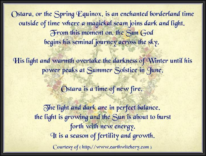 Ostara graphic from Magickal Moonie's Sanctuary