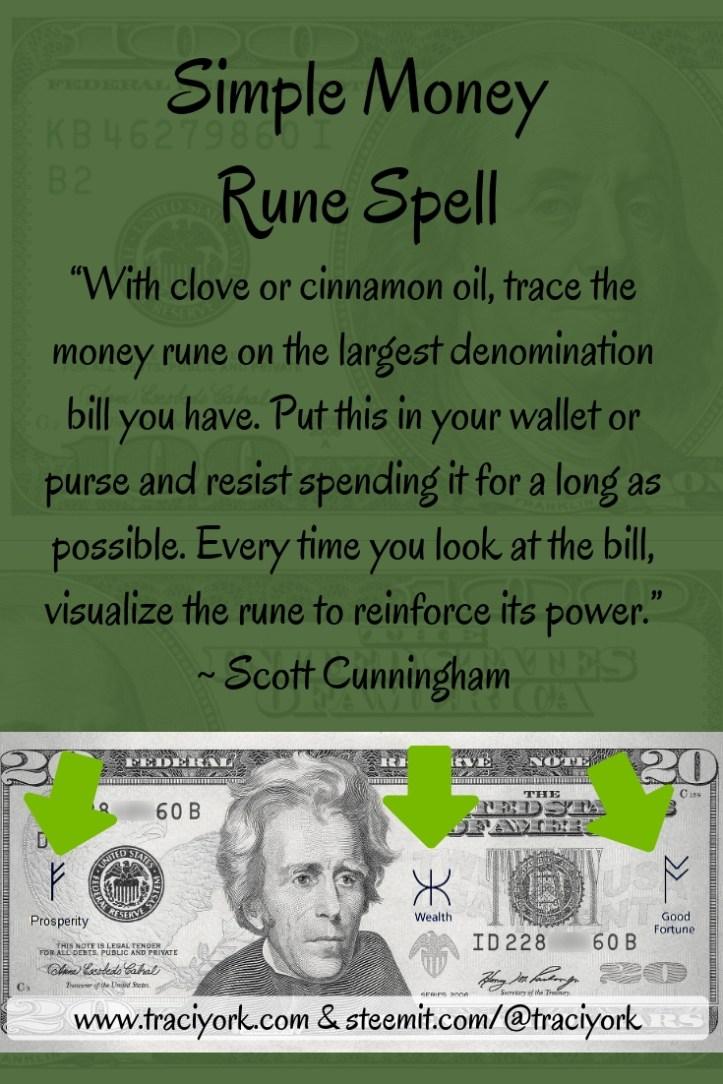 Money Rune Spell Scott Cunningham