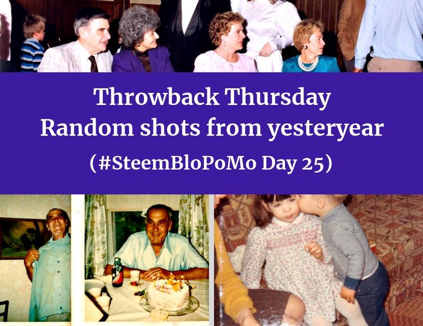 Throwback Thursday - Random shots from yesteryear (#SteemBloPoMo Day 25) blog thumbnail