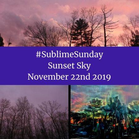 SublimeSunday Sunset Sky November 22nd 2019 blog thumbnail