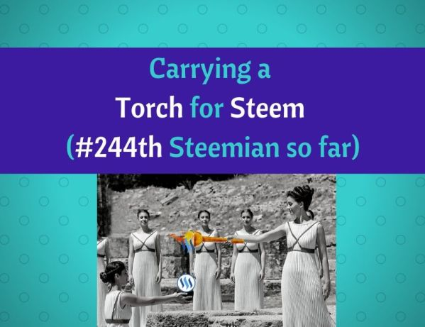 Carrying a Torch for Steem (#244th Steemian so far) blog thumbnail