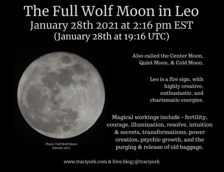 Full Wolf Moon in Leo January 28 Instagram sized