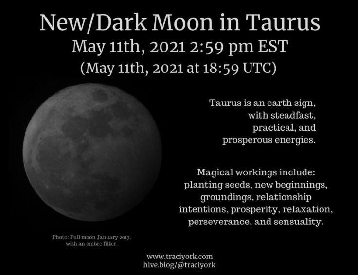 NewDark Moon in Taurus May 2021 Instagram version