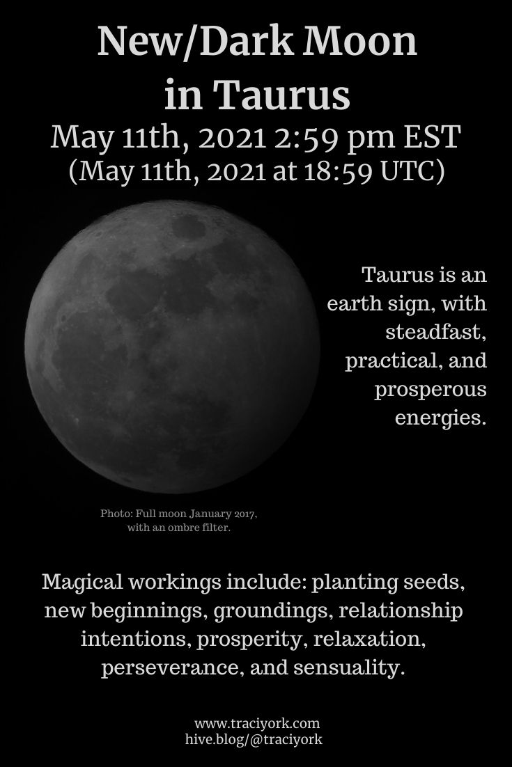 NewDark Moon in Taurus May 2021