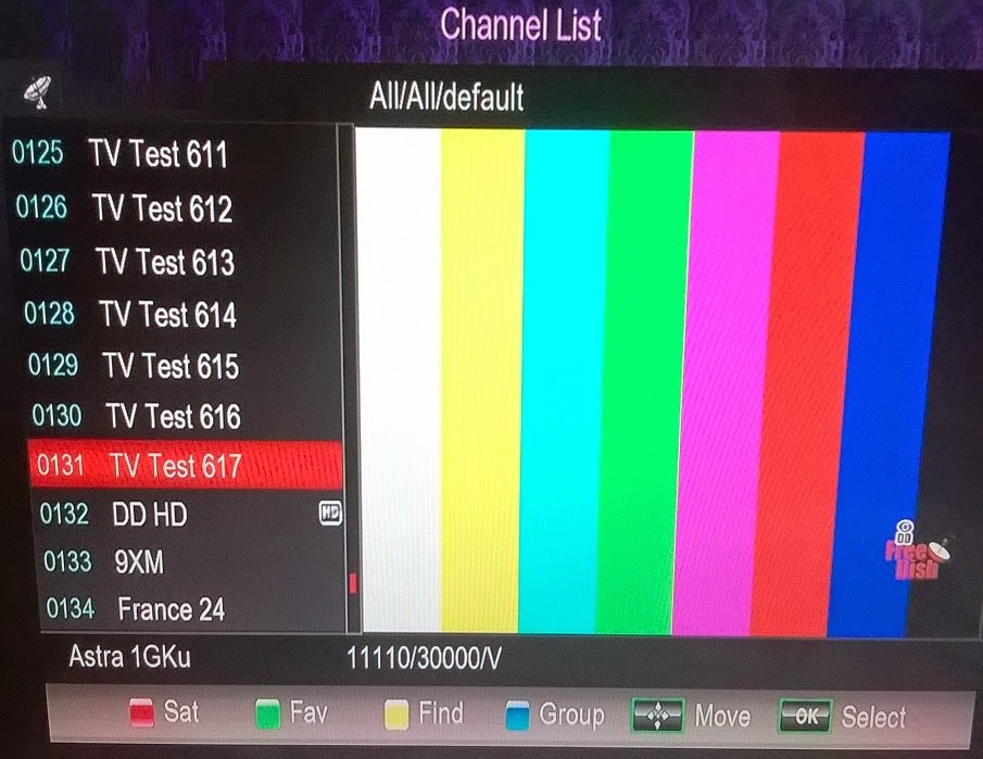 Dish TV Temp. Free-To-Air Channel List from SES8 NSS6 Satellite - 02-07-2016