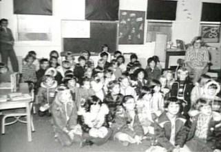 Kindergarten class at Sagehill school. Circa 1970s