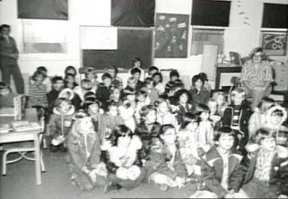 Kindergarten class at Sagehill school. Circa 1970s