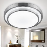LightInTheBox Modern Round Flush Mount Led Ceiling Light 18W Pure White Ceiling Lighting Fixture for Bedroom,Kitchen Voltage=90-240V, Light Source=White
