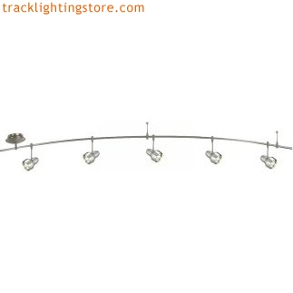 8 foot 300 watt monorail kit with 5 mini om heads with solid metal accent ring