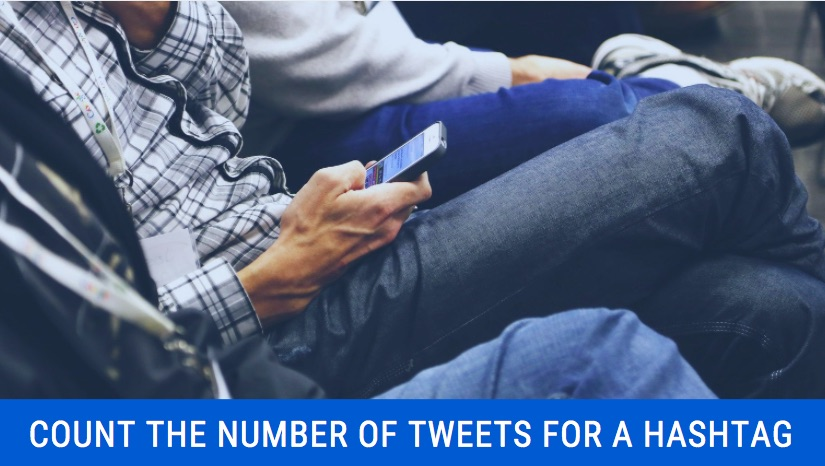 How to count no of tweets for hashtags?