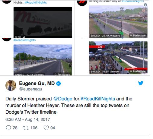 Dodge event hashtag mishap
