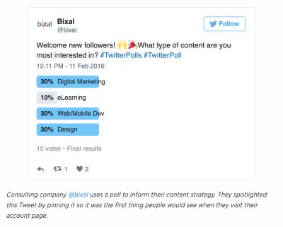 Leverage Twitter polls