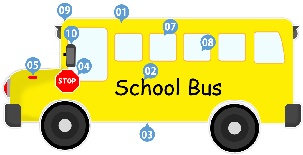 Black Bus White Art Safety Clip And