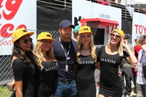 Kellan Lutz with the Maxim girls