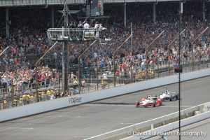 Juan Pablo Montoya beats teammate Will Power to the yard of bricks to win the 2015 Indianapolis 500 Mile Race.