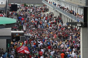 The crowd is packing Indianapolis Motor Speedway